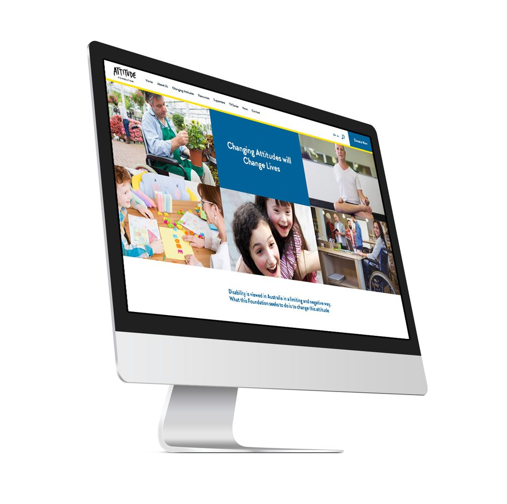 WordPress Website - Attitude Foundation