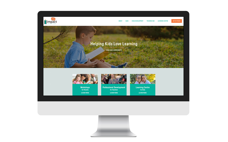 Impact Education WordPress Website