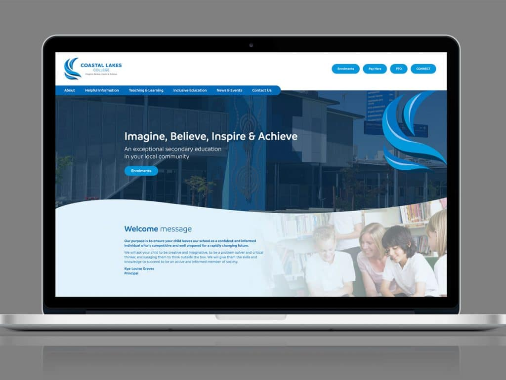 Coastal Lakes School Web Design Perth