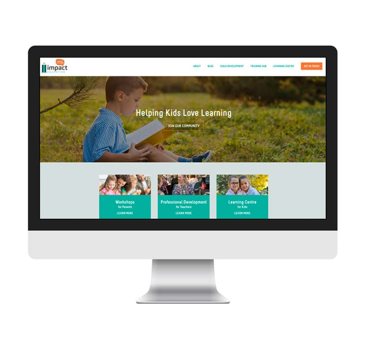Impact Education WordPress Website