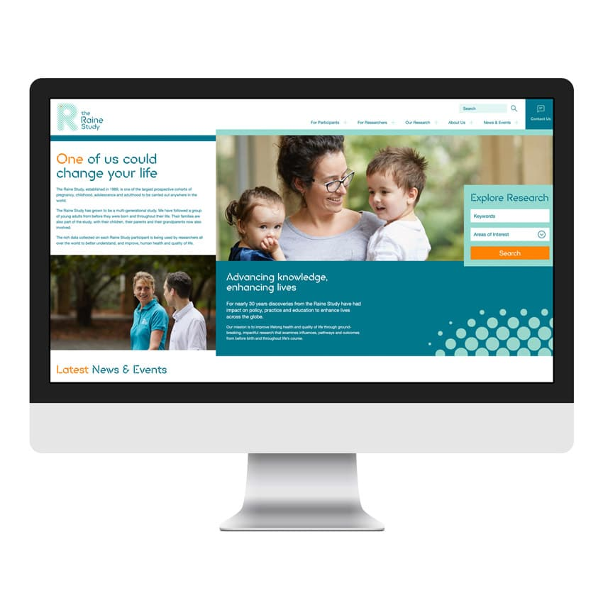 Web Development Perth - The Raine Study