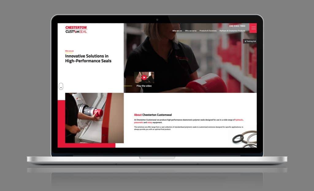 Chesterton Customseal WordPress Web Design Perth